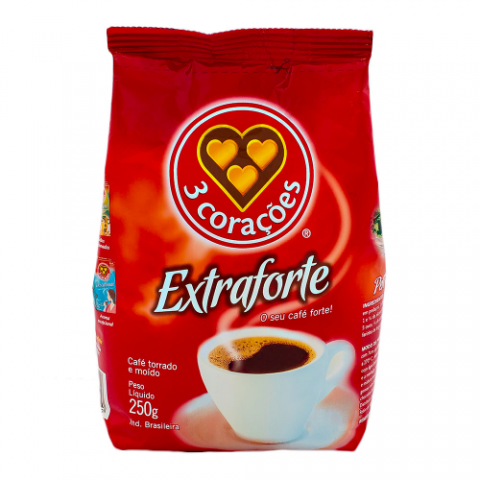 Cafe extra forte 3 Coracoes – 250gr