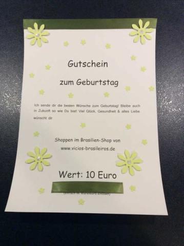 10 Euro Gutschein   Für Geburtstage