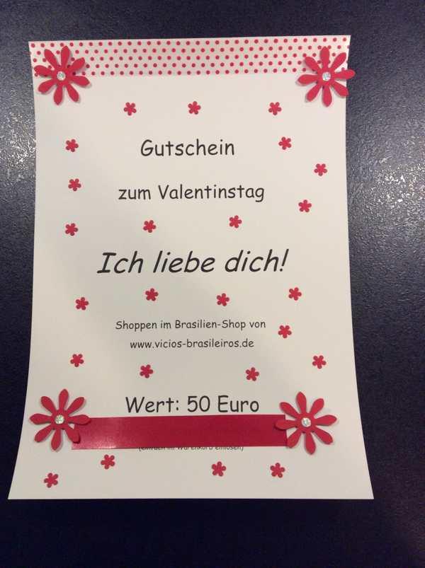 50 Euro Gutschein   Für Valentinstag